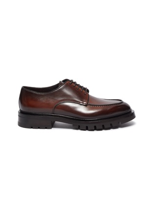 Main View - Click To Enlarge - SANTONI - Cleat Sole Apron Derby