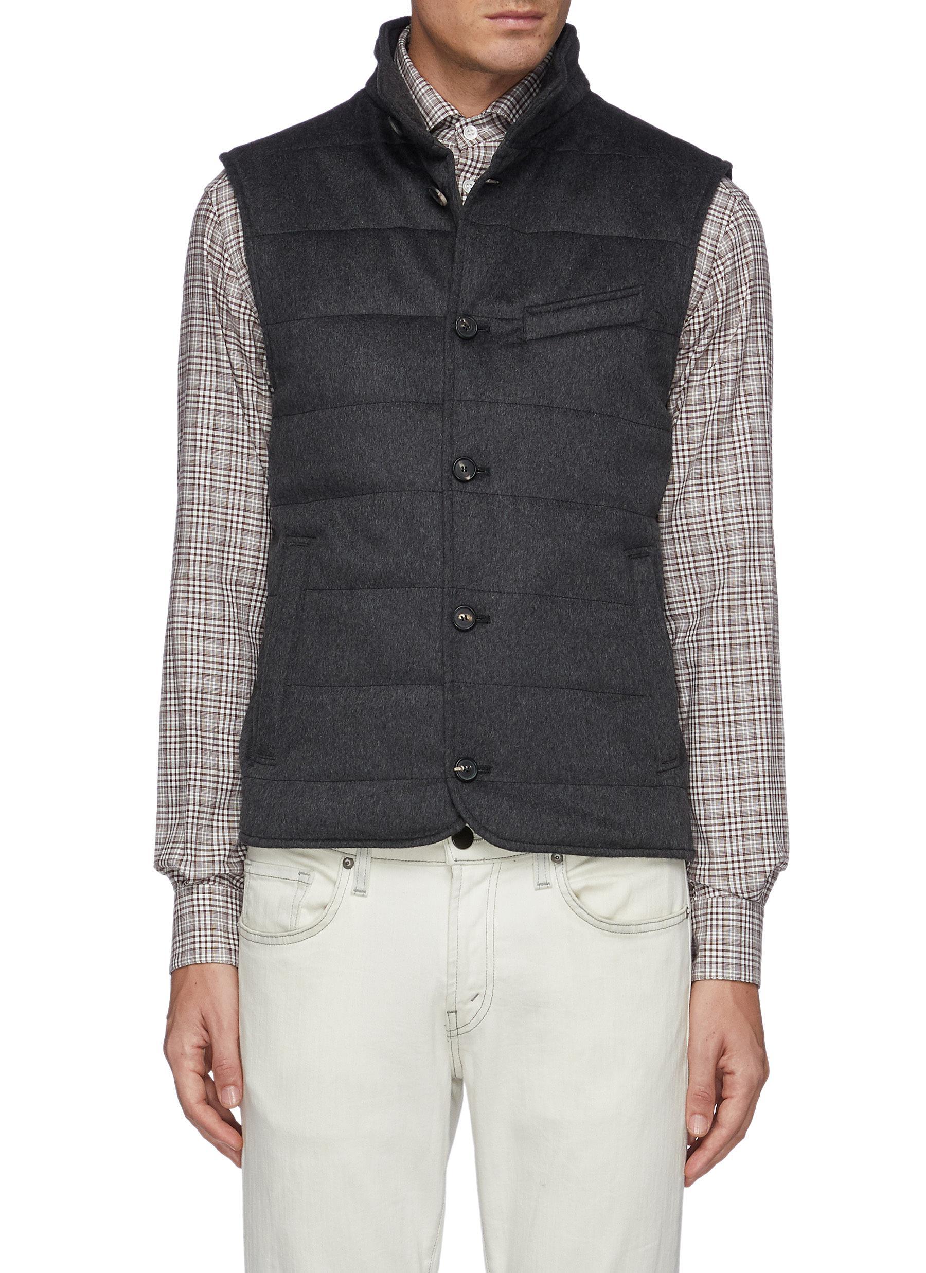 Buttoned Cashmere Vest
