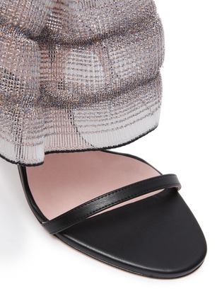 Detail View - Click To Enlarge - PIFERI - Fantasia' Tulle Ankle Strap Vegan Leather Sandals