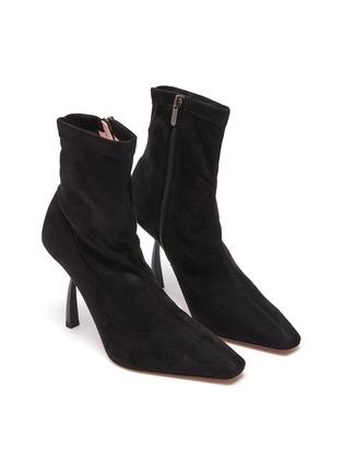 Detail View - Click To Enlarge - PIFERI - Merlin' Stretch Suede Ankle Boots