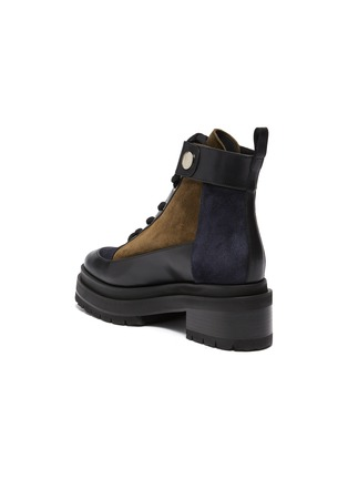 - PIERRE HARDY - Leather and Suede Penny Lace Up Combat Boots
