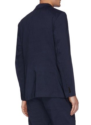 Back View - Click To Enlarge - THEORY - Clinton' Eco Crunch Linen Single Breasted Blazer