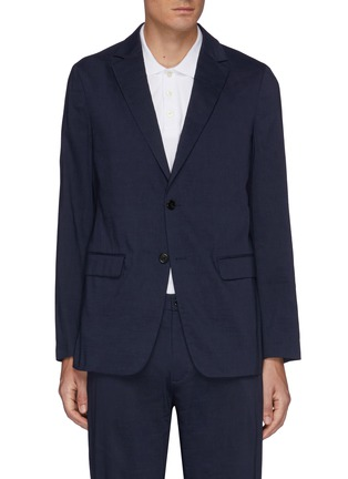 Main View - Click To Enlarge - THEORY - Clinton' Eco Crunch Linen Single Breasted Blazer
