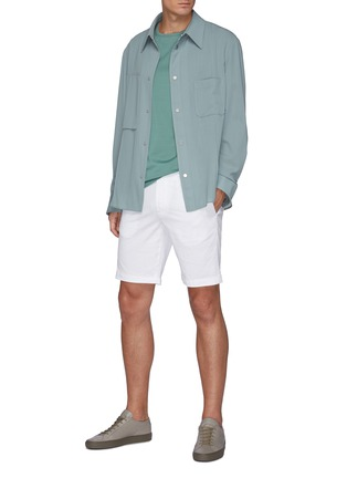 Figure View - Click To Enlarge - THEORY - Zaine' Cotton Shorts