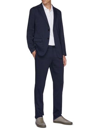 Figure View - Click To Enlarge - THEORY - Zaine' Eco Crunch Linen Pants