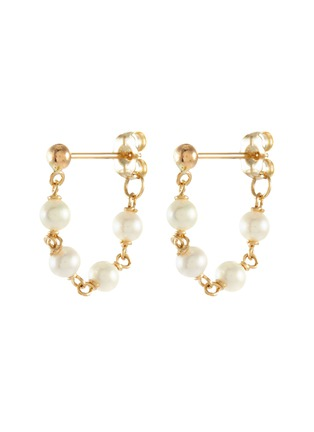 Main View - Click To Enlarge - POPPY FINCH - Baby Pearl Wrap Around 14k Gold Earrings