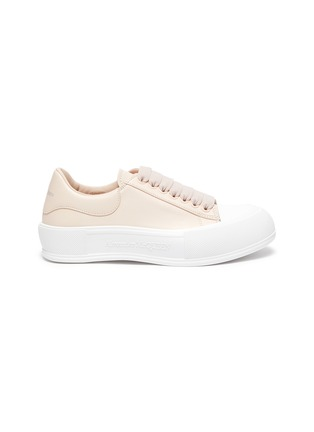 Main View - Click To Enlarge - ALEXANDER MCQUEEN - Deck Plimsoll' Low Top Leather Sneakers