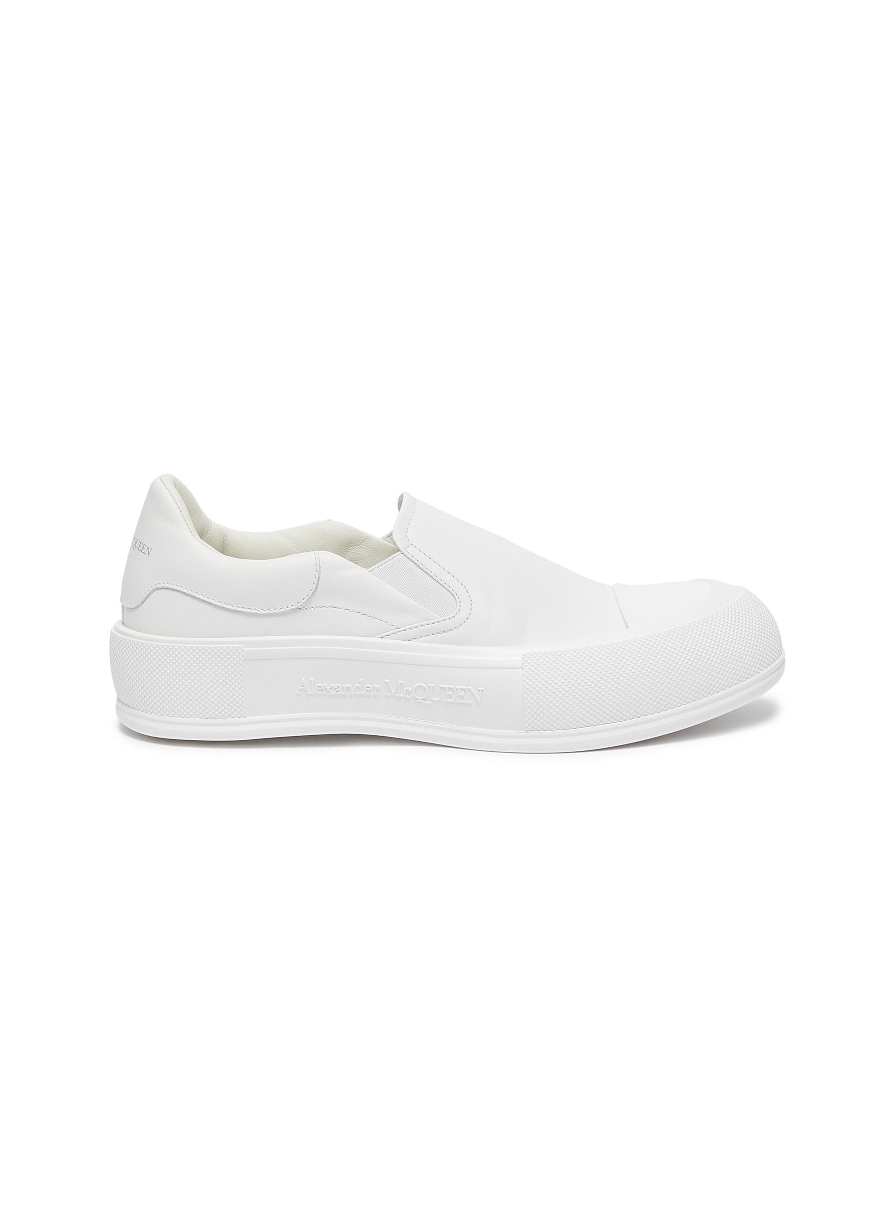 Deck Plimsoll' Slip-on Leather Sneakers