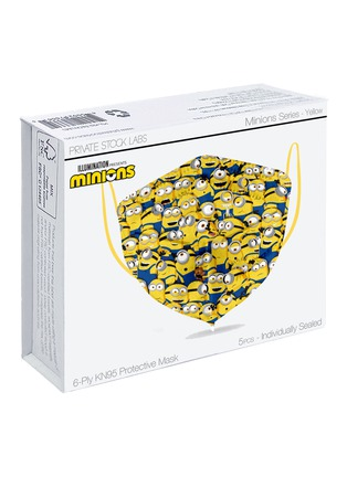 Main View - Click To Enlarge - PRIVATE STOCK LABS - Protective KN95 Face Mask Pack of 5 — Minions Yellow