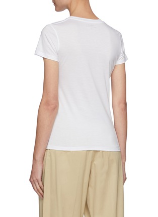 Back View - Click To Enlarge - VINCE - Essential Crewneck Pima Cotton T-shirt