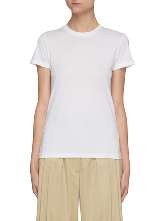 Main View - Click To Enlarge - VINCE - Essential Crewneck Pima Cotton T-shirt