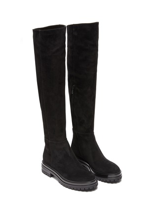 Detail View - Click To Enlarge - GIANVITO ROSSI - Quinn' Over-the-knee Suede Leather Boots