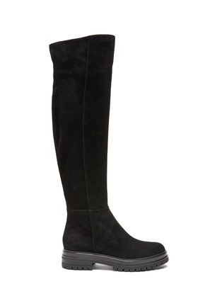 Main View - Click To Enlarge - GIANVITO ROSSI - Quinn' Over-the-knee Suede Leather Boots