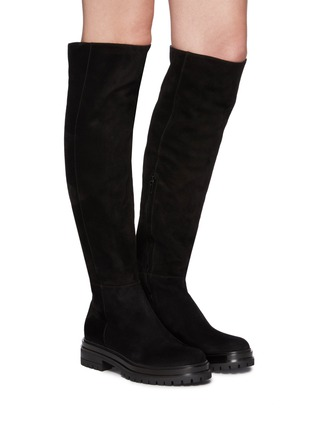 Figure View - Click To Enlarge - GIANVITO ROSSI - Quinn' Over-the-knee Suede Leather Boots