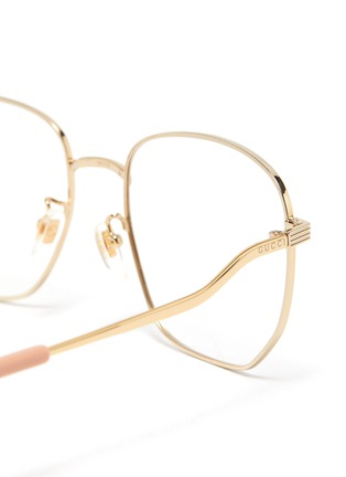 Detail View - Click To Enlarge - GUCCI - Gold-Toned Hexagonal Metal Frame Optical Glasses
