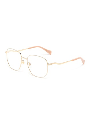 Main View - Click To Enlarge - GUCCI - Gold-Toned Hexagonal Metal Frame Optical Glasses