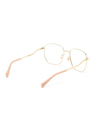 Figure View - Click To Enlarge - GUCCI - Gold-Toned Hexagonal Metal Frame Optical Glasses