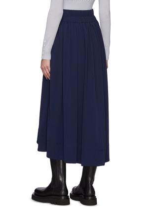 Back View - Click To Enlarge - 3.1 PHILLIP LIM - Asymmetric Hem Shirred Midi Skirt