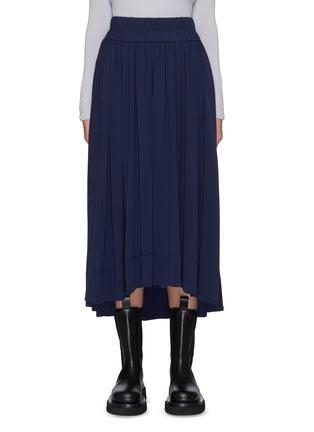 Main View - Click To Enlarge - 3.1 PHILLIP LIM - Asymmetric Hem Shirred Midi Skirt