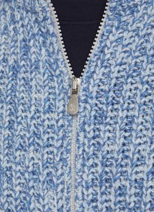 - BRUNELLO CUCINELLI - Zipped Ribbed Wool Cardigan