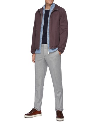 Figure View - Click To Enlarge - BRUNELLO CUCINELLI - Zipped Ribbed Wool Cardigan