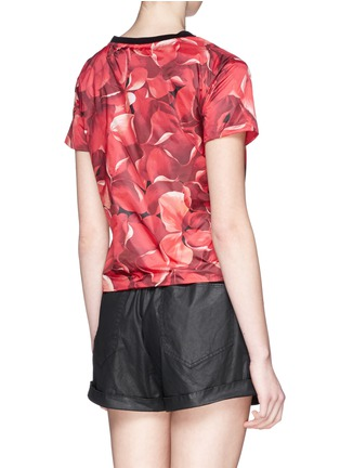 Back View - Click To Enlarge - Moncler - Flower print nylon top