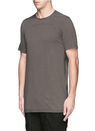 Front View - Click To Enlarge - Rick Owens DRKSHDW - Irregular seam long T-shirt