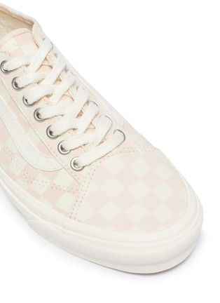 Detail View - Click To Enlarge - VANS - Checkered Print 'Old Skool Tapered' Low Top Lace Up Sneaker