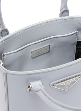 Detail View - Click To Enlarge - PRADA - Small Brushed Leather Tote Bag