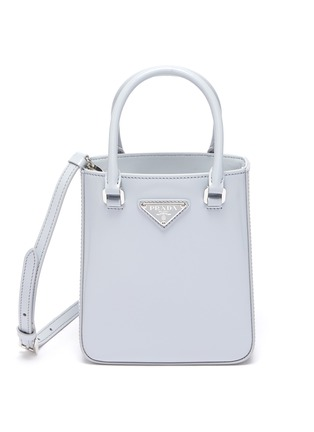 Main View - Click To Enlarge - PRADA - Small Brushed Leather Tote Bag