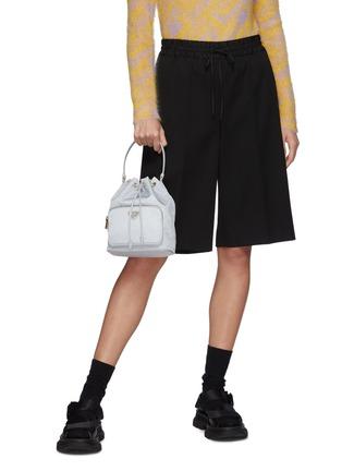 Figure View - Click To Enlarge - PRADA - Duet Re-Nylon Bucket Shoulder Bag