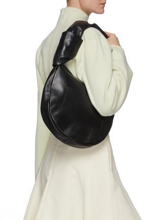 Figure View - Click To Enlarge - JIL SANDER - Twist Leather Shoulder Bag