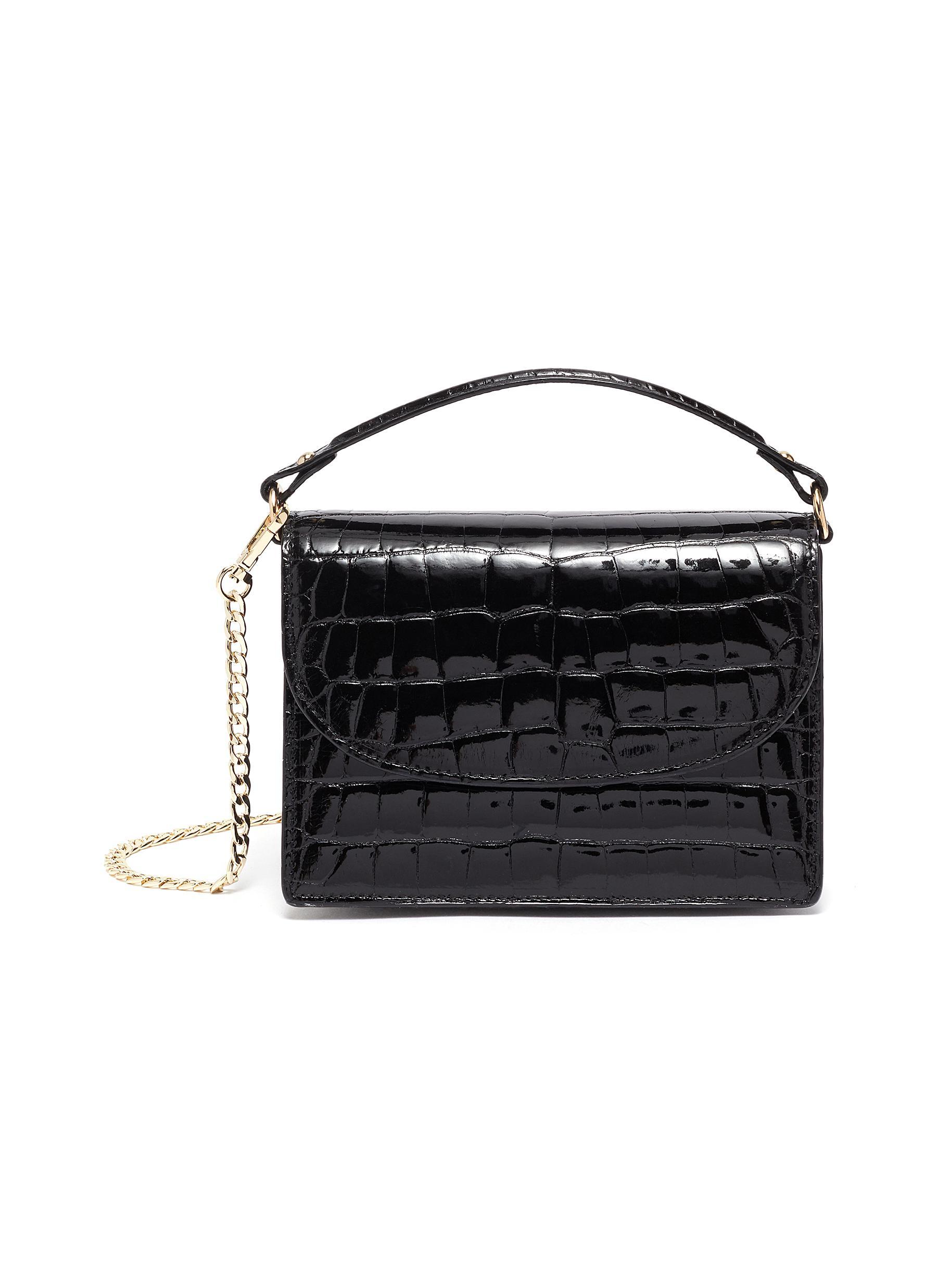 Valencia' Shiny Alligator Leather Crossbody Bag
