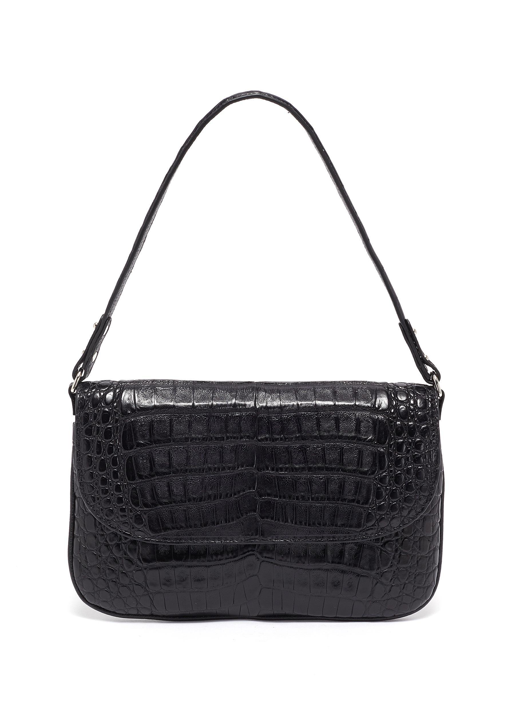 Luisa' Matte Crocodile Leather Pouch