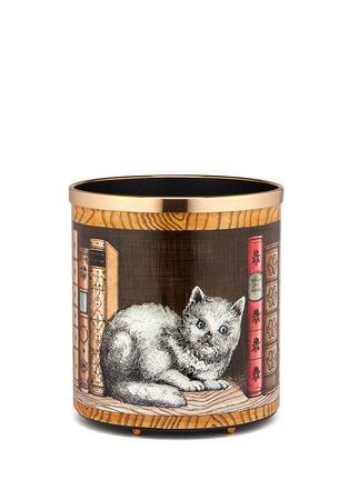 Main View - Click To Enlarge - Fornasetti - Gatto con Libri paper basket