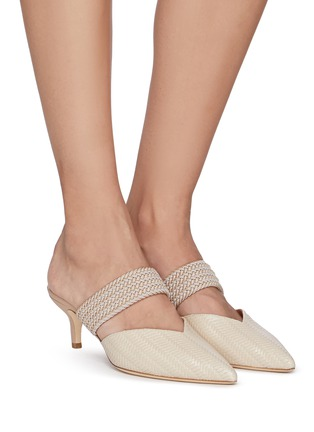 Figure View - Click To Enlarge - MALONE SOULIERS - Maisie' Embossed Leather Mules