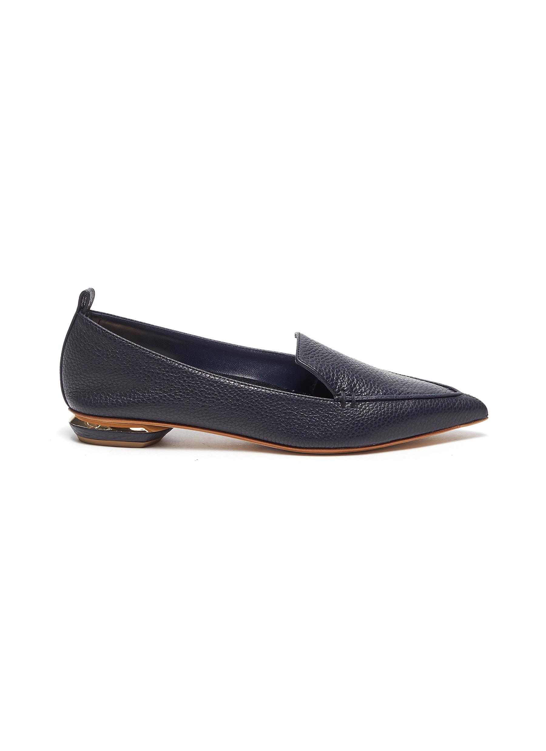 Beya' Pebble Leather Loafers - NICHOLAS KIRKWOOD - Modalova