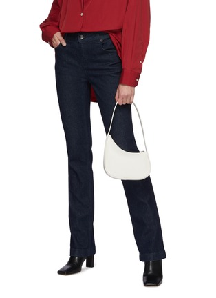 Figure View - Click To Enlarge - THE ROW - Half Moon Calf Leather Shoulder Bag