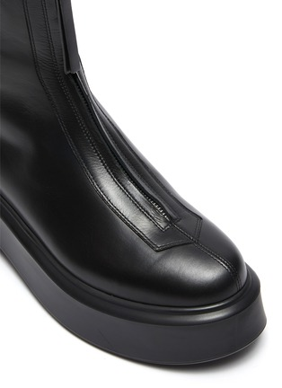 Detail View - Click To Enlarge - THE ROW - Zipped Platform Boots