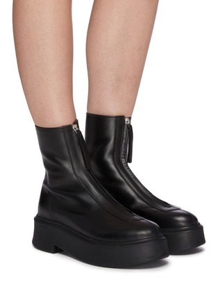 Figure View - Click To Enlarge - THE ROW - Zipped Platform Boots
