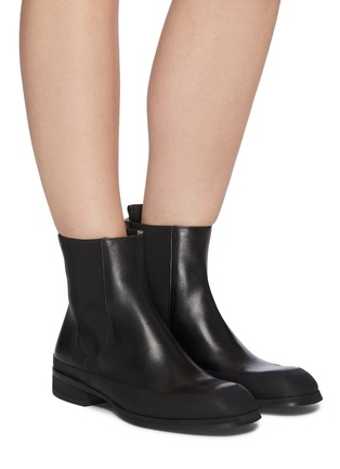 Figure View - Click To Enlarge - THE ROW - Grained Calfskin Leather Garden Boots