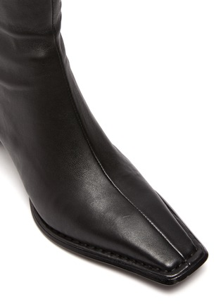 Detail View - Click To Enlarge - ALEXANDERWANG - Aldrich' Square Toe Over The Knee Leather Boots