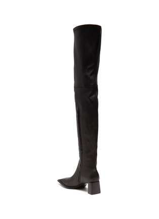 - ALEXANDERWANG - Aldrich' Square Toe Over The Knee Leather Boots
