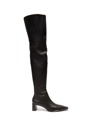 Main View - Click To Enlarge - ALEXANDERWANG - Aldrich' Square Toe Over The Knee Leather Boots