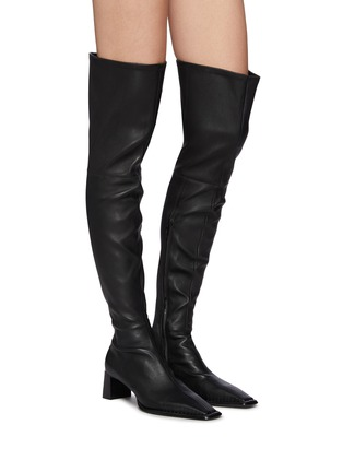 Figure View - Click To Enlarge - ALEXANDERWANG - Aldrich' Square Toe Over The Knee Leather Boots