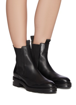 Figure View - Click To Enlarge - ALEXANDERWANG - Andy' Cut Out Heel Leather Ankle Chelsea Boots