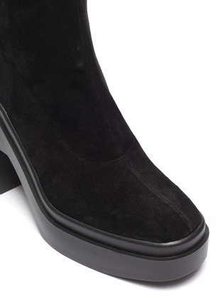 Detail View - Click To Enlarge - CLERGERIE - Naelle' Suede Over The Knee Platform Boots