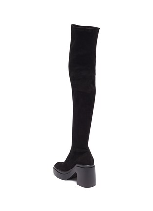 - CLERGERIE - Naelle' Suede Over The Knee Platform Boots