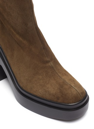 Detail View - Click To Enlarge - CLERGERIE - Nina' Suede Platform Ankle Boots