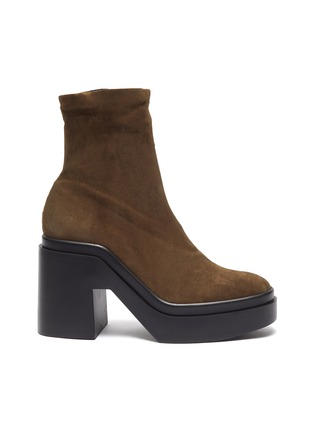 Main View - Click To Enlarge - CLERGERIE - Nina' Suede Platform Ankle Boots